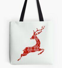 Ugly Christmas Sweater Reindeer Tote Bag