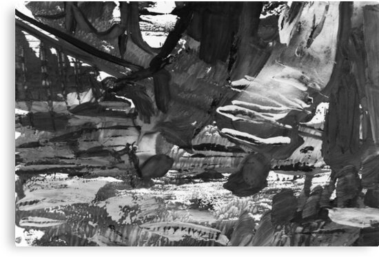 gray black and white gradient, acrylic paint in monotype technique, abstract texture  by EkaterinaP