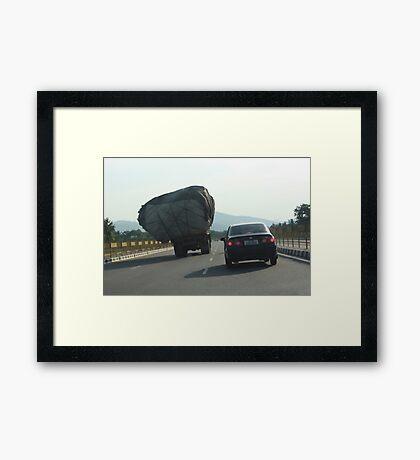 Loads on Road Framed Print