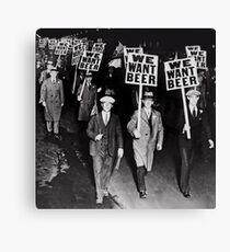 Lienzo Queremos cerveza