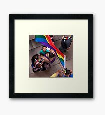 Marriage Equality rally in Honolulu .6 Framed Print