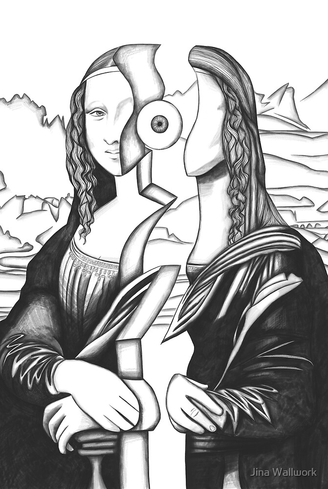 Mona Lisa 5 by Jina Wallwork