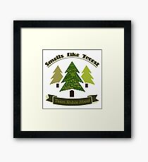 Smells Like Forest - Team Robin Hood Framed Print