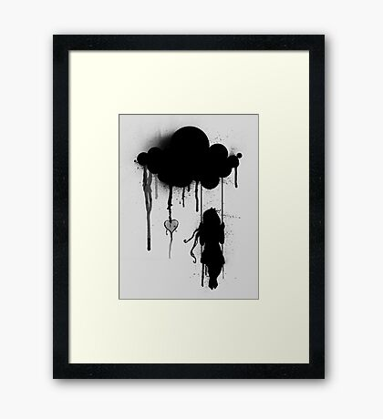 the rain Framed Print
