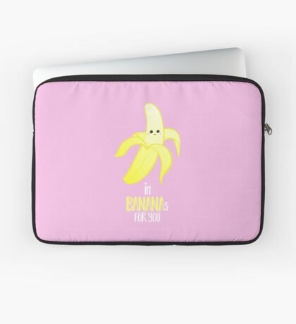 I'm BANANAS for you - Valentines Day - Anniversary - Valentine's Puns - Anniversary Puns - Funny Card - Funny Gifts - Banana Pun - Fruit Pun Laptop Sleeve