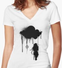 the rain Women's Fitted V-Neck T-Shirt