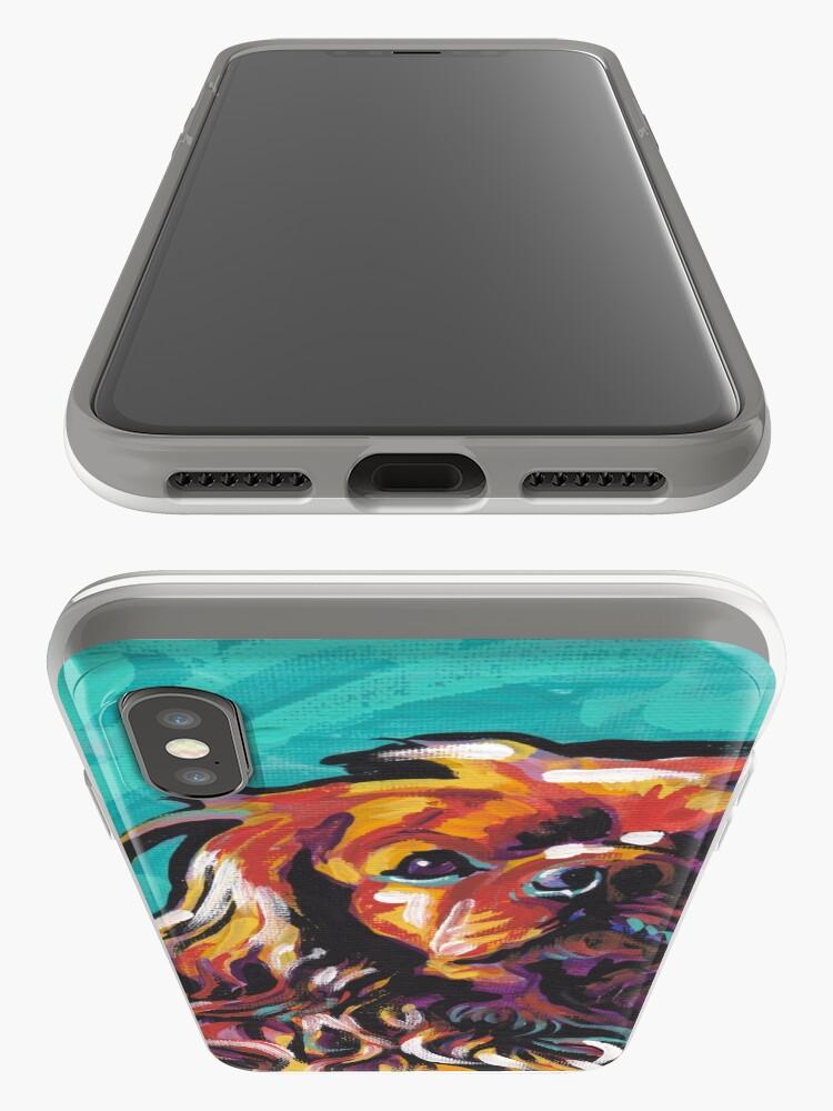 Vista alternativa de Funda y vinilo para iPhone cavalier king charles spaniel perro colorido brillante perro pop art