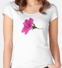 DARK PINK FLOWER Women's Fitted Scoop T-Shirt