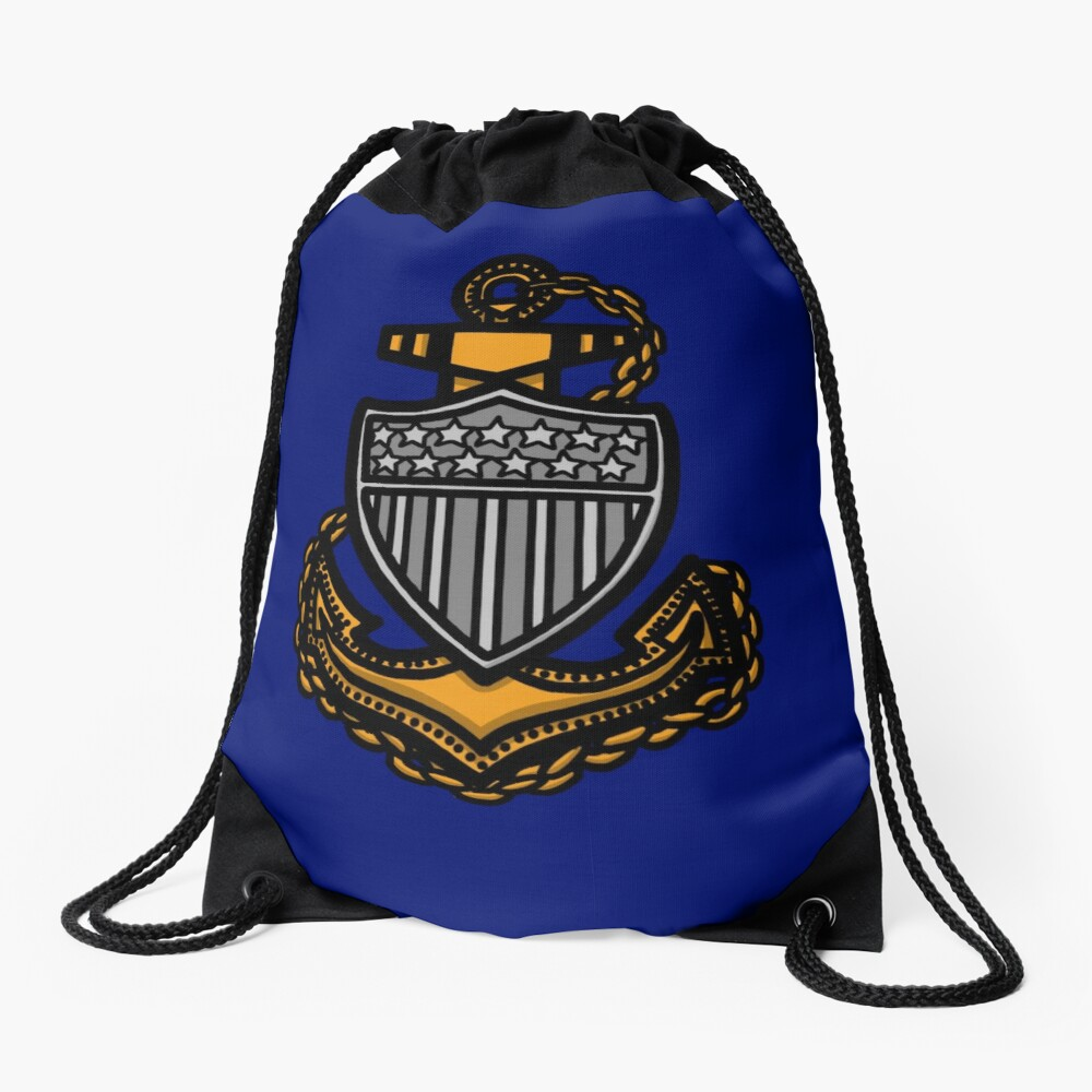 Coast Guard Chief Anchor Drawstring Bag