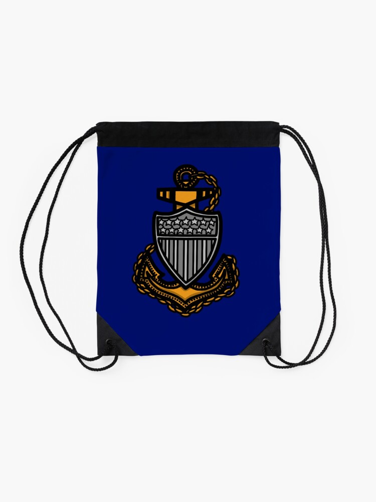 Alternate view of Coast Guard Chief Anchor Drawstring Bag
