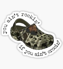camo crocs Sticker