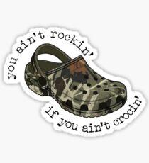 Camo Crocs Sticker