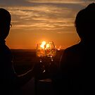 Toasting love in the sunset, Torre de Palma, Vaiamonte, Portugal by Andrew Jones