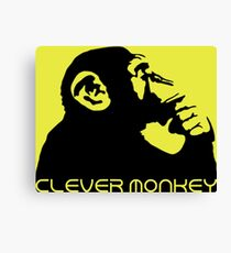 Clever Monkey Canvas Print