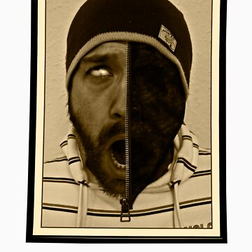 Zipp it, man trapped in photo frame by DanTreasure