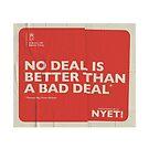 No Deal Mug by NYET! - a Brexit UK Border Farce