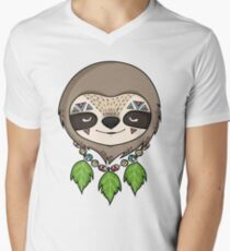 Sloth Head Men's V-Neck T-Shirt