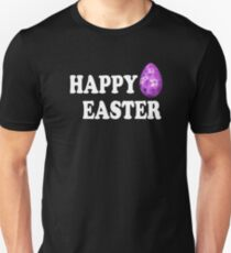 Happy easter with colorful easter egg Unisex T-Shirt