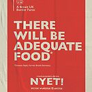 Adequate Food Poster by NYET! - a Brexit UK Border Farce