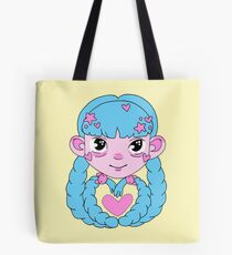 Heart Twintails Blue Version Tote Bag