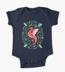 Tropical Dragon Short Sleeve Baby One-Piece