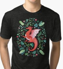 Tropical Dragon Tri-blend T-Shirt