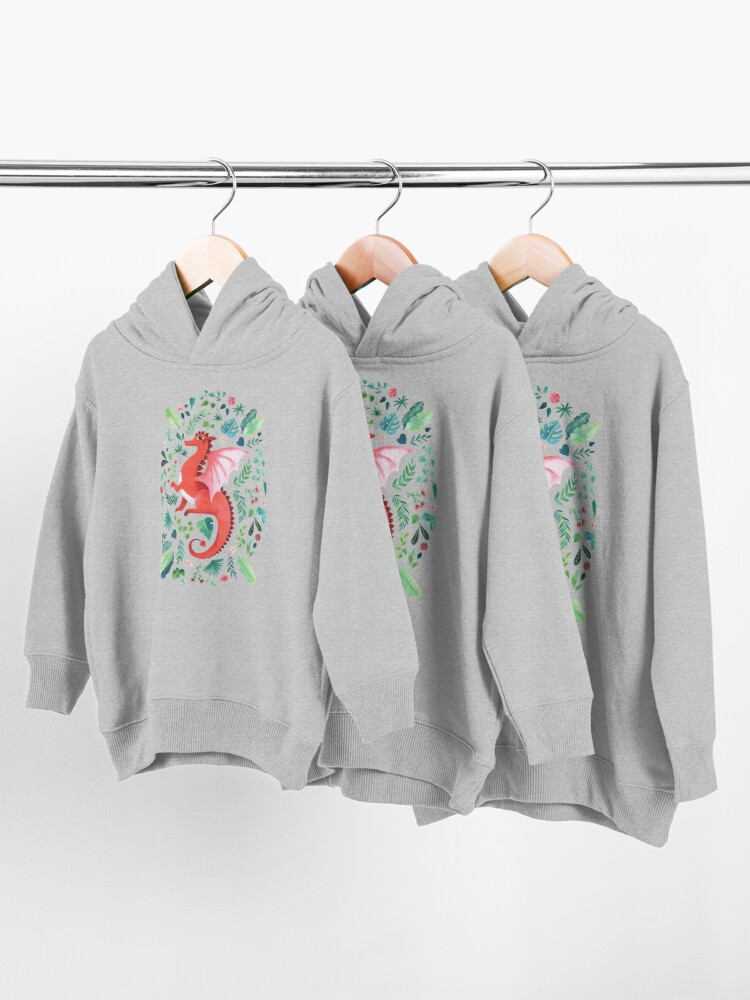 Alternate view of Tropical Dragon Toddler Pullover Hoodie