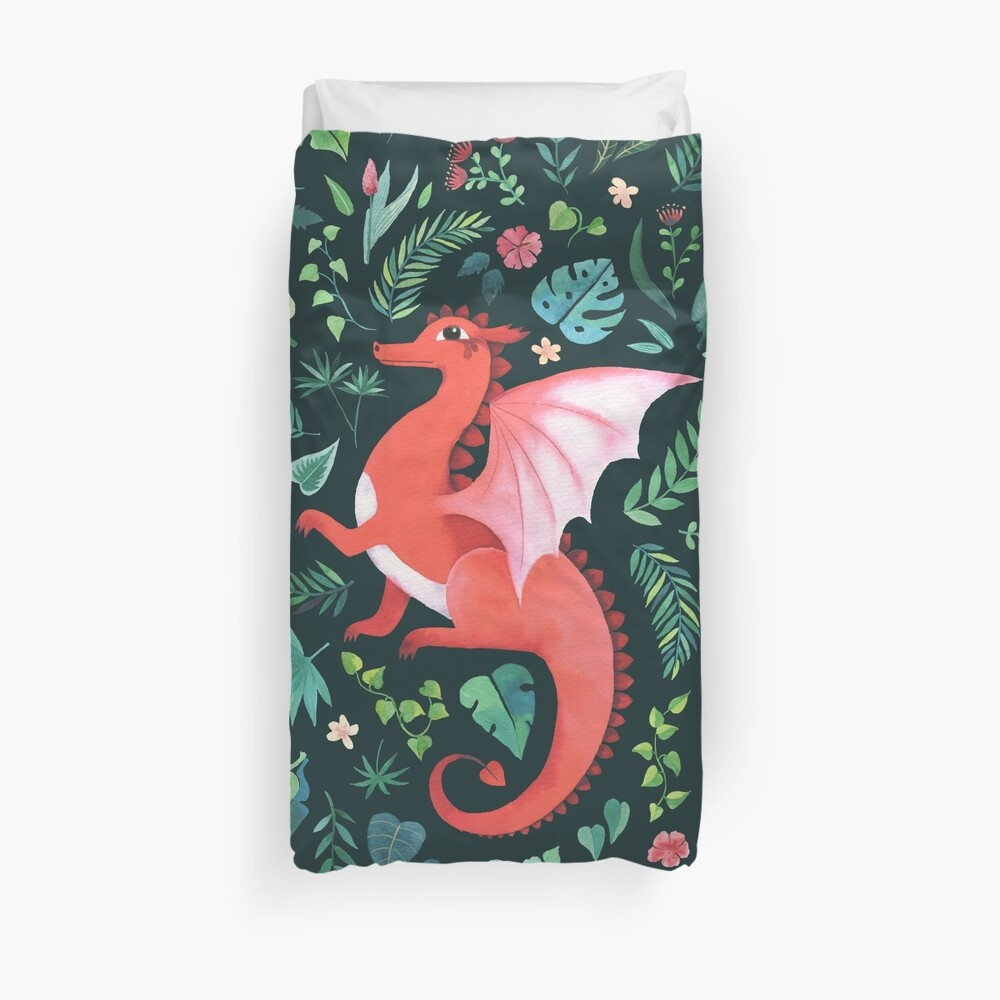 Tropical Dragon Duvet Cover