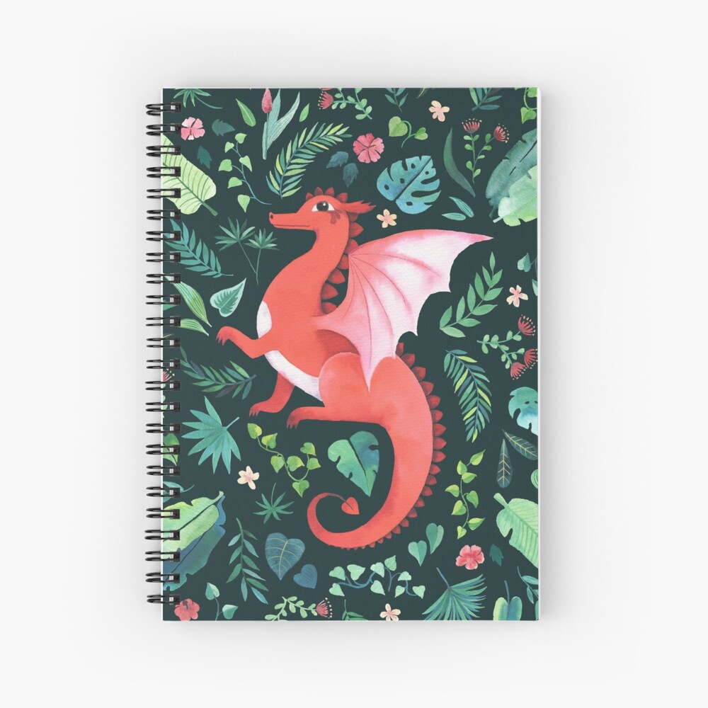 Tropical Dragon Spiral Notebook