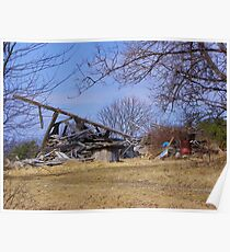 Collapsed barn Poster