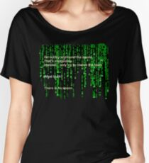 The Matrix: There is no spoon Women's Relaxed Fit T-Shirt