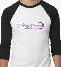 In The Name of The Moon - Sailor Moon Men's Baseball ¾ T-Shirt