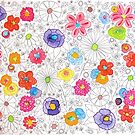 Coloring Book Flowers by collageDP