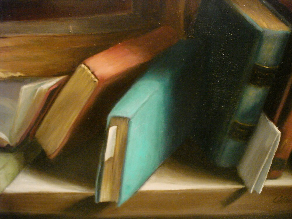 Helen's Books detail by Cathy Amendola