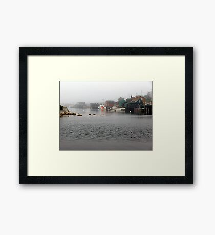 Foggy Day in West Dover Framed Print