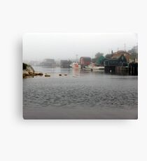 Foggy Day in West Dover Canvas Print