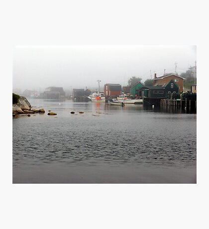 Foggy Day in West Dover Photographic Print