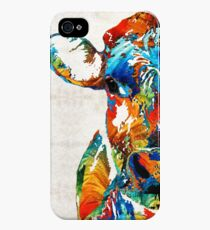 Colorful Cow Art - Mootown - By Sharon Cummings iPhone 4s/4 Case