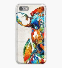 Colorful Cow Art - Mootown - By Sharon Cummings iPhone Case/Skin