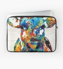 Bunte Kuh-Kunst - Mootown - durch Sharon Cummings Laptoptasche