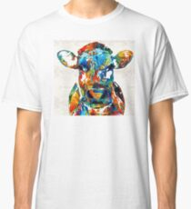 Colorful Cow Art - Mootown - By Sharon Cummings Classic T-Shirt