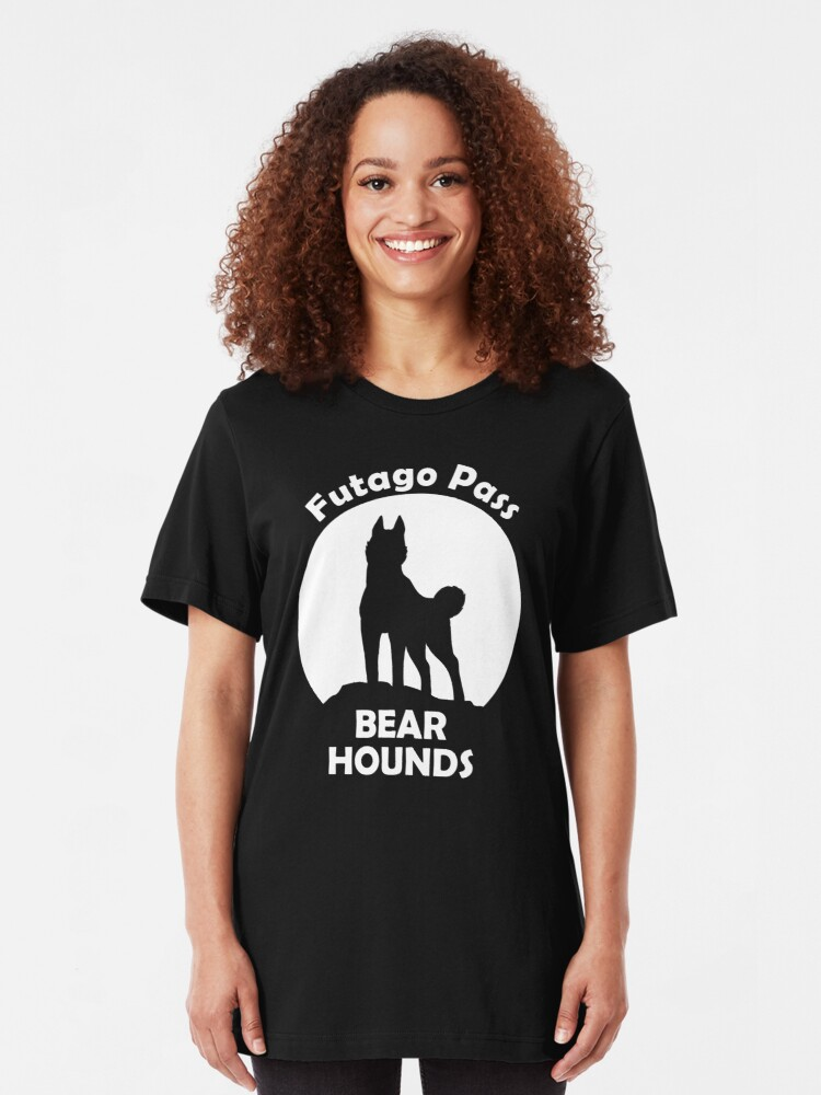 Alternate view of Futago Pass Bear Hounds Slim Fit T-Shirt