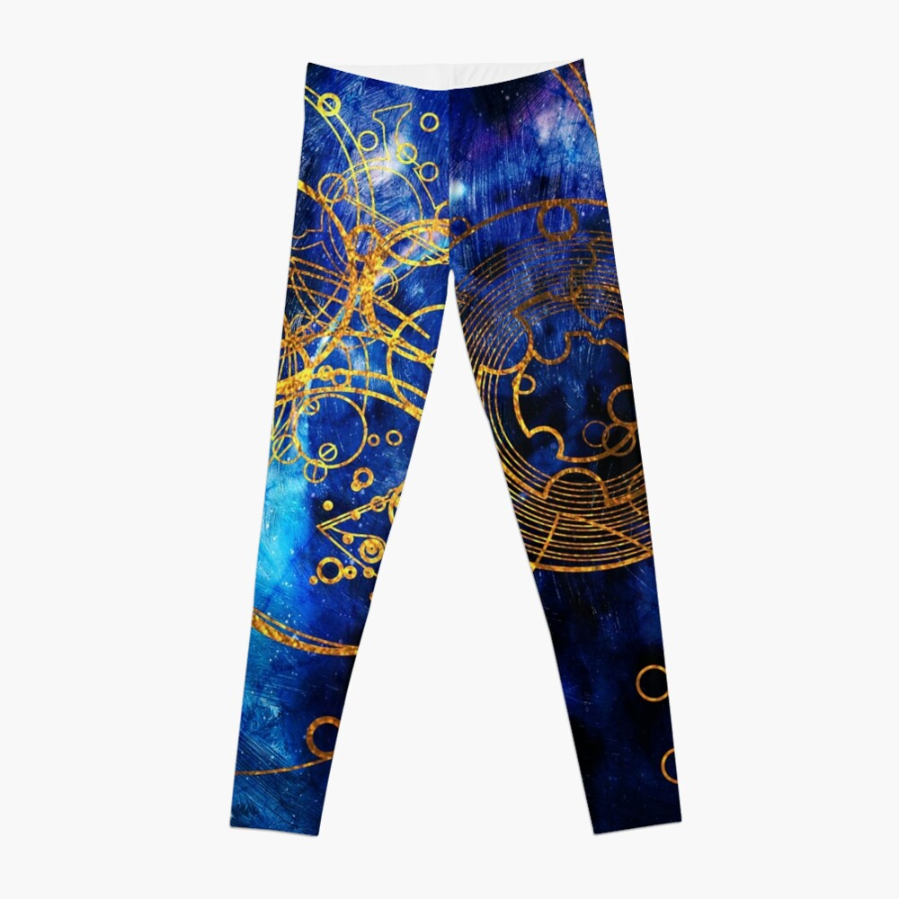 Time Lord Writing (blue) Leggings