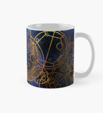 Time Lord Writing (blau) Tasse (Standard)