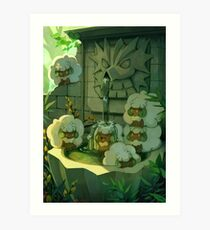 Chilling In The Fountain Art Print