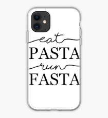Eat Pasta Run Fasta iPhone Case