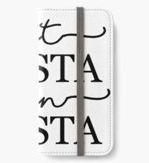 Eat Pasta Run Fasta iPhone Wallet/Case/Skin