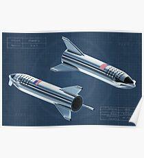 Starship Blueprint Poster