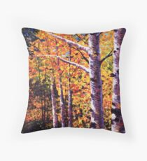 The Two Aspens Throw Pillow