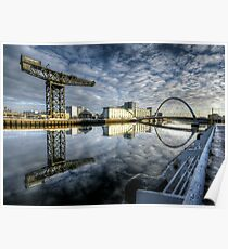 River Clyde reflected Poster